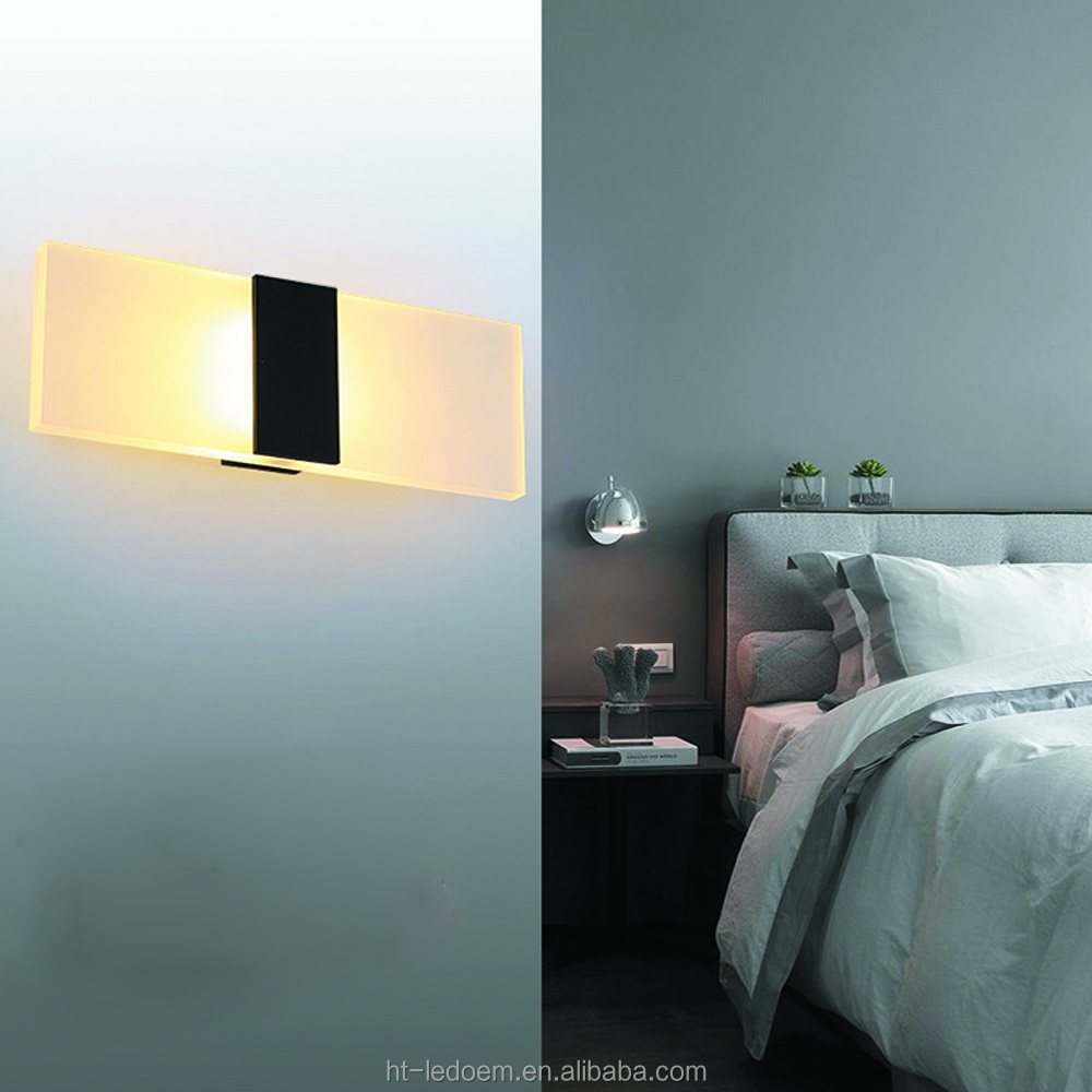 Modern indoor 6W LED Wall Lights/High Quality Aluminum Base Acrylic Square indoor led Wall Lamps