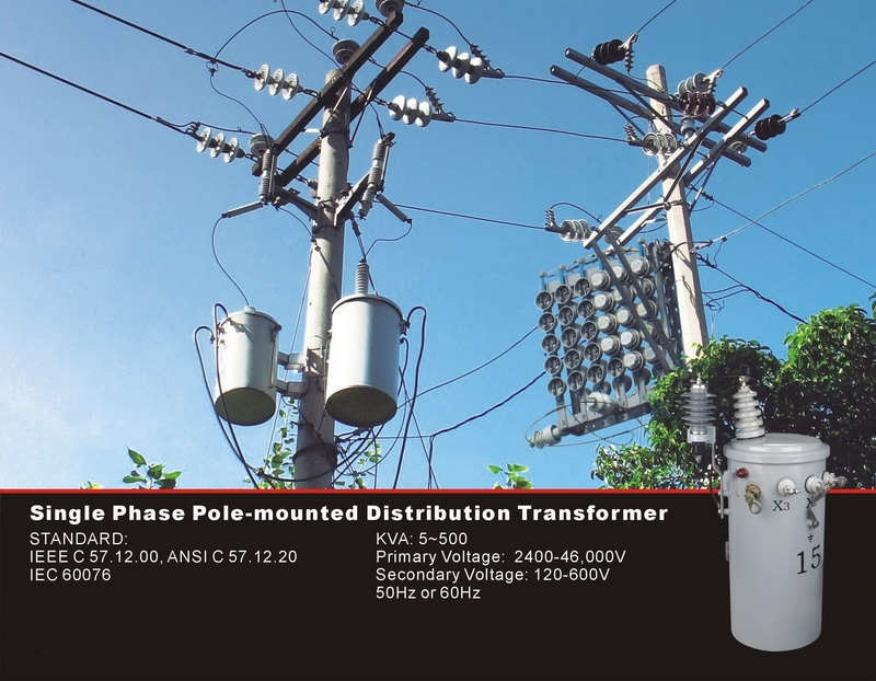 25kva Pole Mounted Electric Power Single Phase Transformer