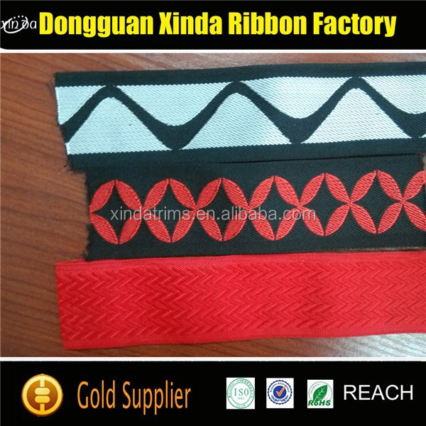 Hot Sale Customized Woven Colored Flat Polyester Webbing