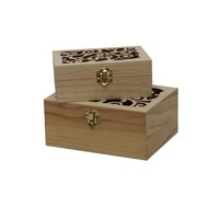 Low price hand carved wood box for export