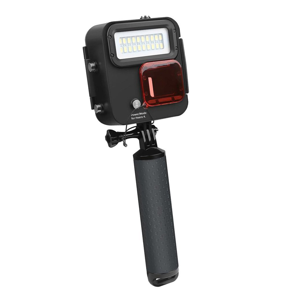 MagiDeal 1000lm Waterproof 40m Underwater Diving Light High Power Dimmable LED Fill Diving Light for GoPro Hero 6/5/4