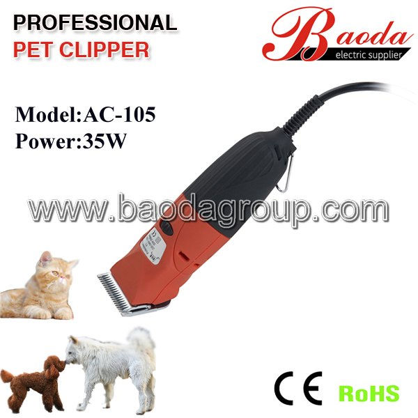 ( 2013 hot selling) dog grooming clipper / pet grooming clipper, 35watts power with CE and ROHS approved