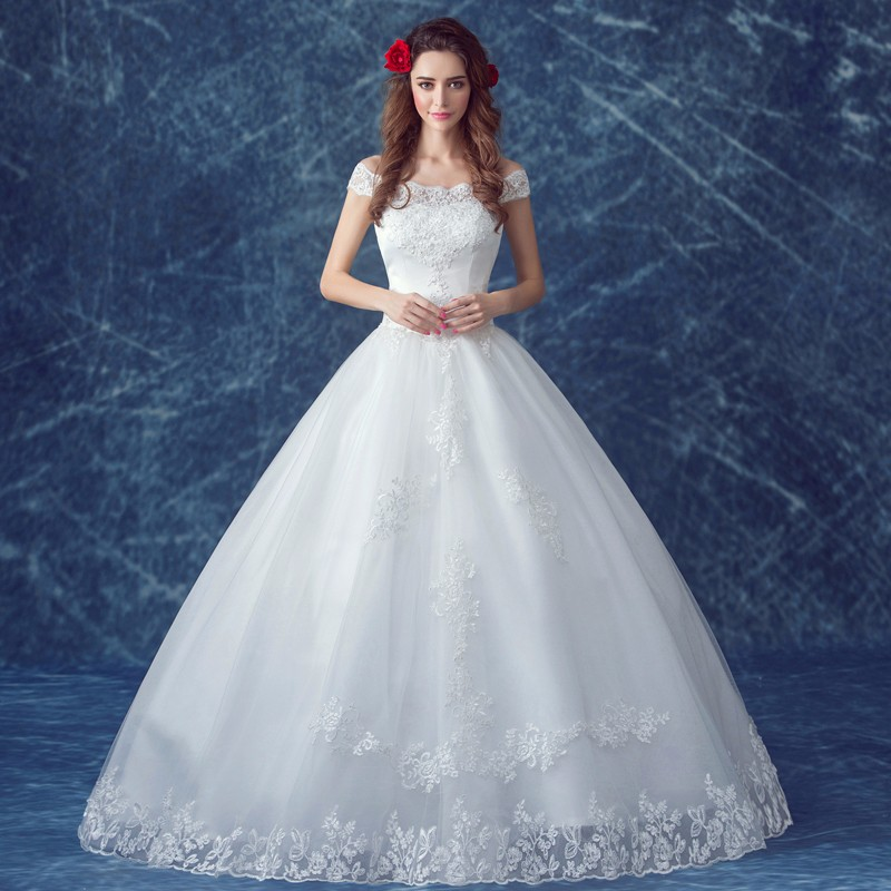 Hot Sale Sweetheart Lace Off Shoulder Ball Gown Wedding Dress - Buy ...