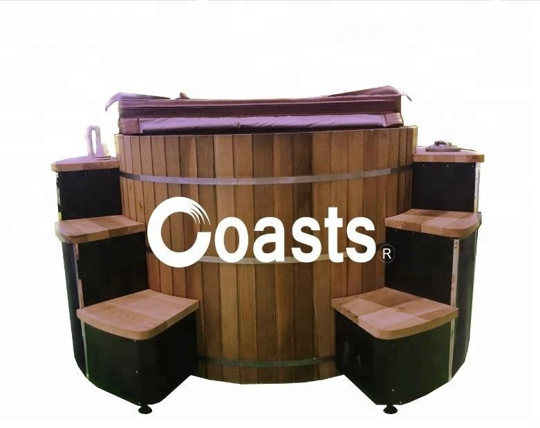 1ce5ad171ce 1.8m 3~4 People Chinese Red Cedar Outdoor Wood Fired Hot Tub On Sale ...