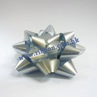 (IN STOCK) 900pcs/lot 83mm star bows gift bows (silver color)