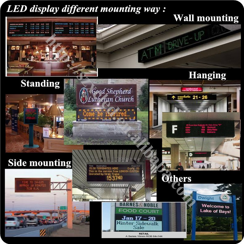 P4.75-16x128(635x105x20mm) Shop Window OPEN CLOSED Programable Hanging Bluetooth LED Scrolling Message Sign