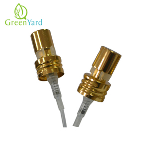 20mm shiny gold cream perfume mist crimp pump for cosmetic glass bottle