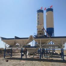 hot sale medium-sized automatic hzs75 type of portable concrete cement mobile batching mixing plant