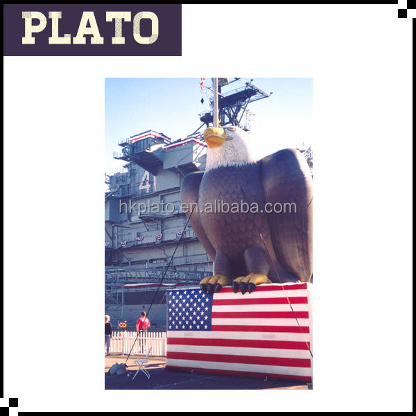 American Flag Bald Eagle Inflatable giant Eagle model Eagle standing on the US Flag