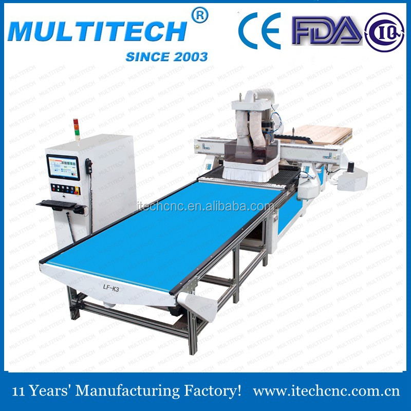 2016 new machine factory price auto loading and unloading atc cnc router with bo