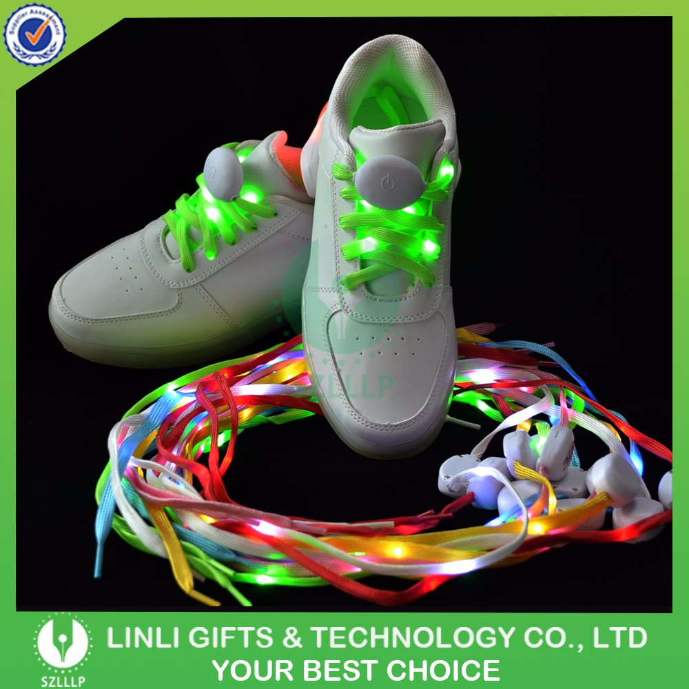 Hot Selling Safety Elastic Shoe Laces Cool No Tie Shoelaces Led Shoelaces