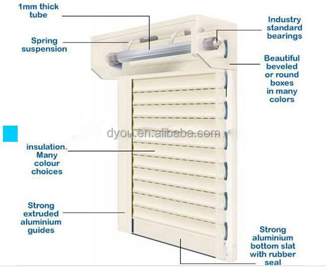 Elegant design aluminum electric window shutters exterior - Electric window shutters interior ...