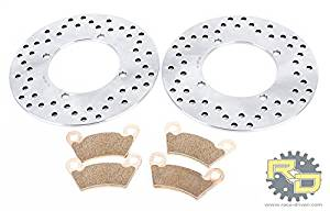 2011-2014 Polaris Ranger 900 Diesel Rear Brake Rotors and Severe Duty Brake Pads