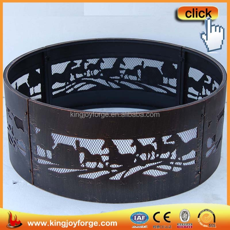Top selling in the USA fire pit rim with bbq grill