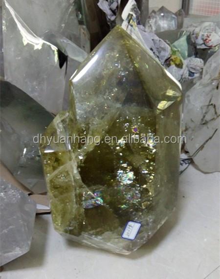 Large Sizes Natural Citrine Quartz Crystal Wands,Crystal Prism ...