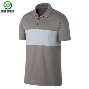 Mens Big and Tall Brand Quality 2 tone Hot Fashion Short Sleeve golf polo t shirt