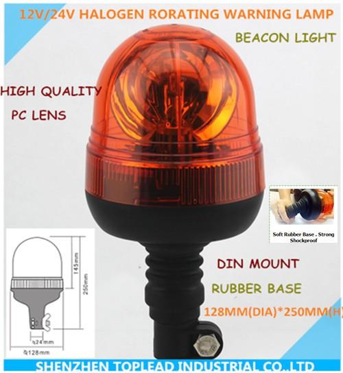 LED rotante lampeggiante Amber beacon flessibile DIN Pole Mount TRATTORE LUCE di avvertimento
