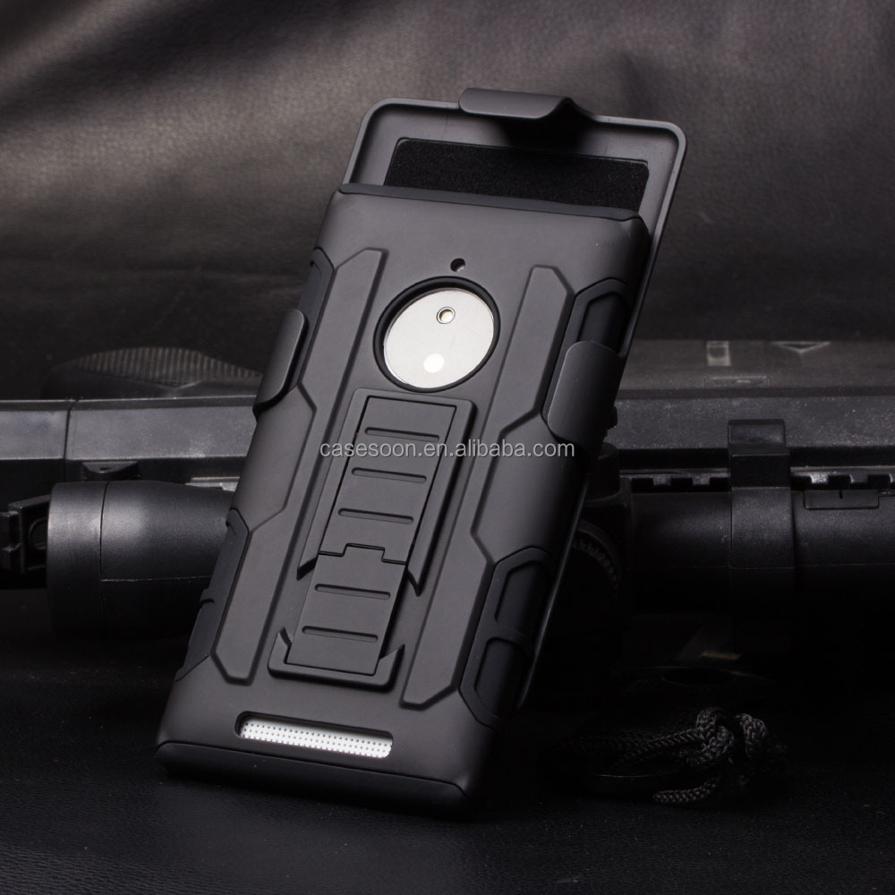 Belt Clip Holster Rugged Hybrid Hard Cover Case For Nokia Lumia 830 N830 Mobile Phone