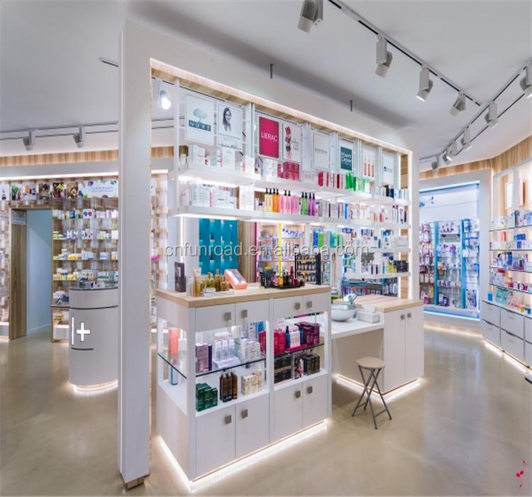 Glass Display Shelf / Pharmacy Display Shelf /Retail Store Shelf