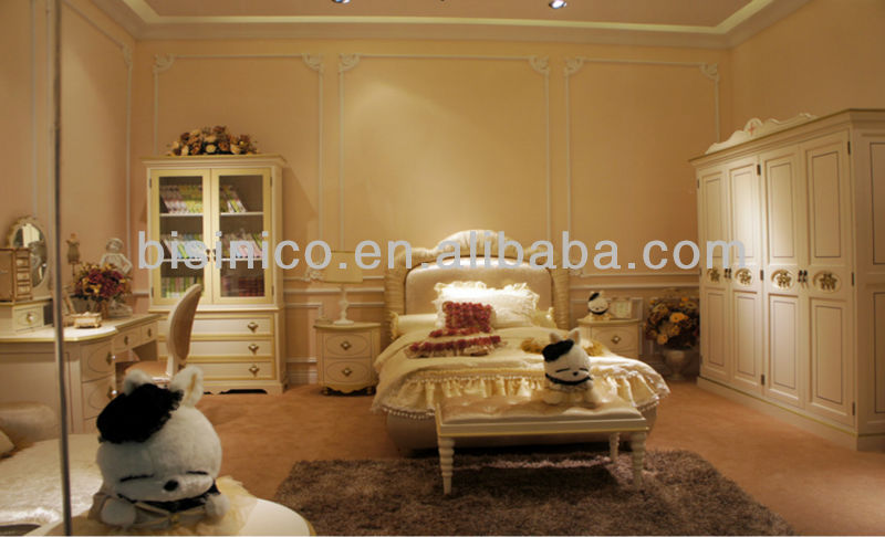 Belle princesse mobilier de chambre élégant ados ensemble de chambre ...