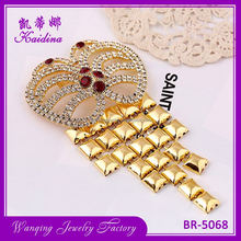 New hotsale OEM quality bridal crystal rhinestone brooch