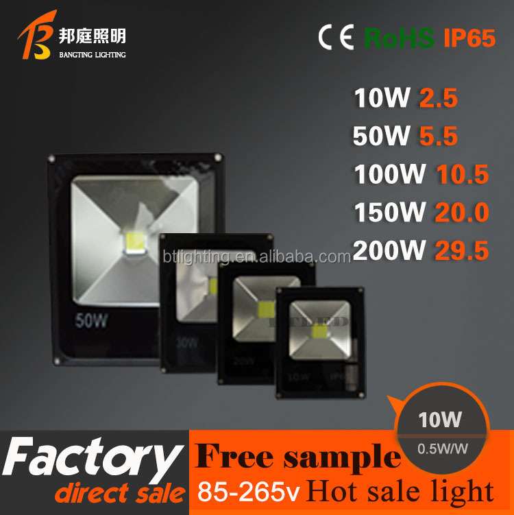 0.5W/W IP67 waterproof bridgelux cob 10w aluminium led flood light housing
