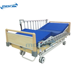 YA-DH3ACM Three position wooden hospital bed with high grade railing