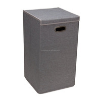 Folding cardboard laundry hamper Collapsible laundry Hamper with Magnetic Lid