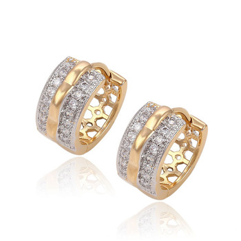 90478 New Products Two -Tone Huggie Earrings Fashion jewelry earring