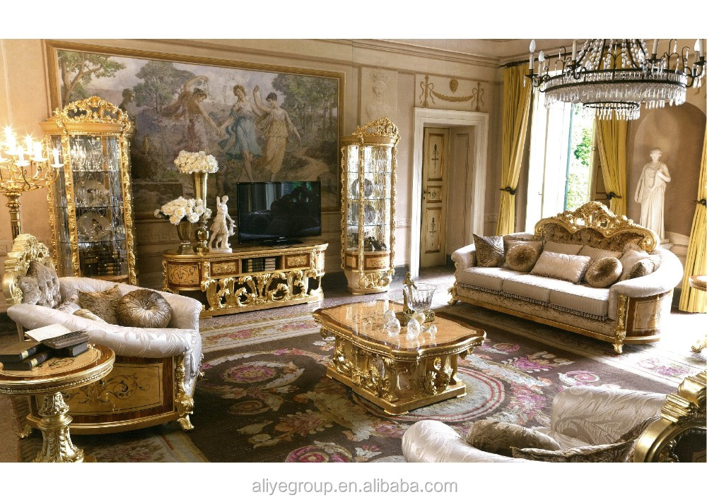 GDM022 Luxury Living Room Show Pieces For Home Decoration Classical Baroque  Furniture