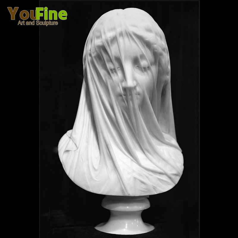 Hand Carved Marble Veiled Lady Bust Statue For Sale Buy