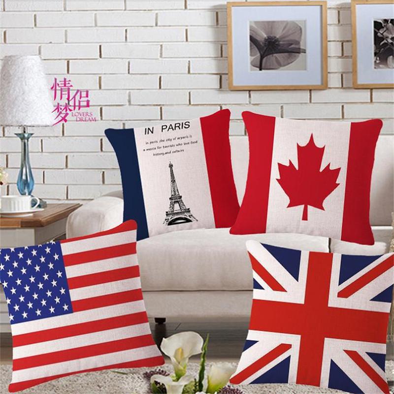 Bright Flag Decorative Throw Pillows Case For Sofa Home