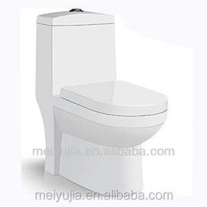 1.8mm Thick glaze Siphonic one piece glass toilet bowl
