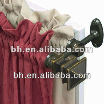 Hangzhou Decorative Antique Bronze Resin End Hinged Curtain Rods ...