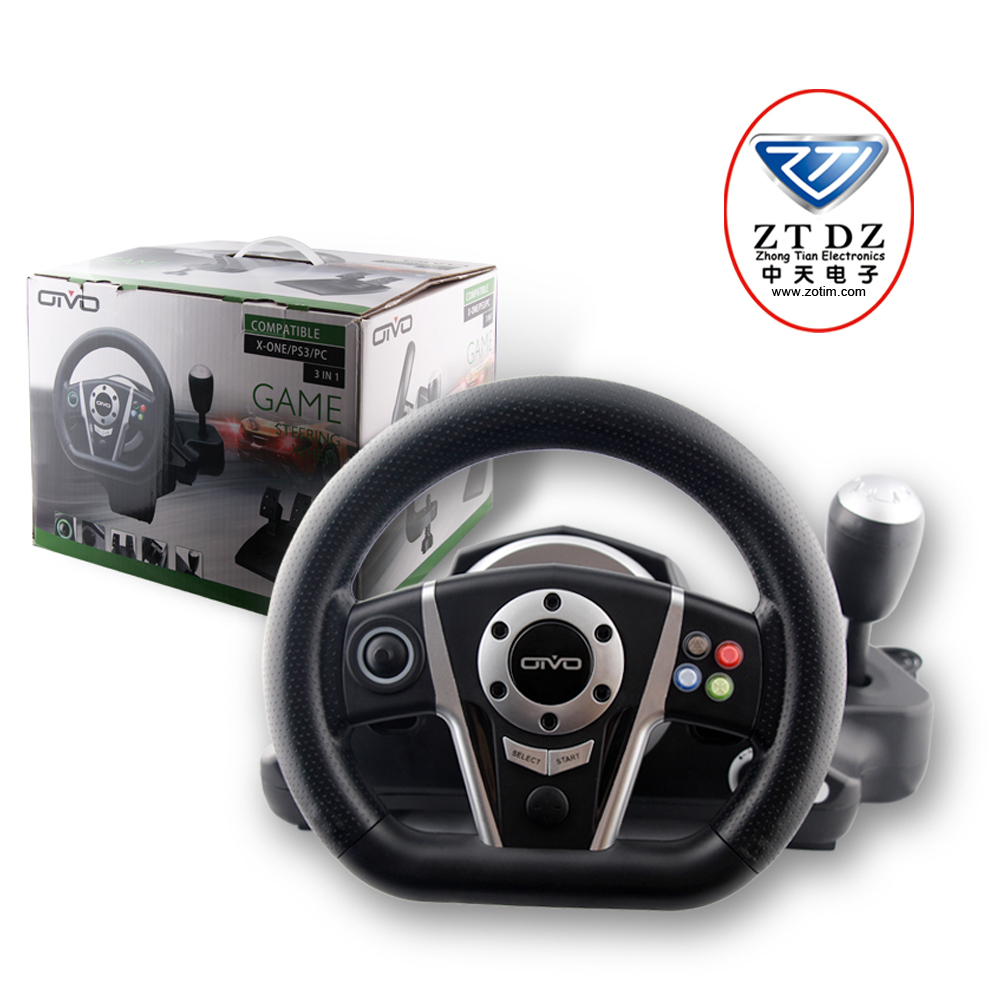 The most professional game accessories factory in china pc steering wheel joystick