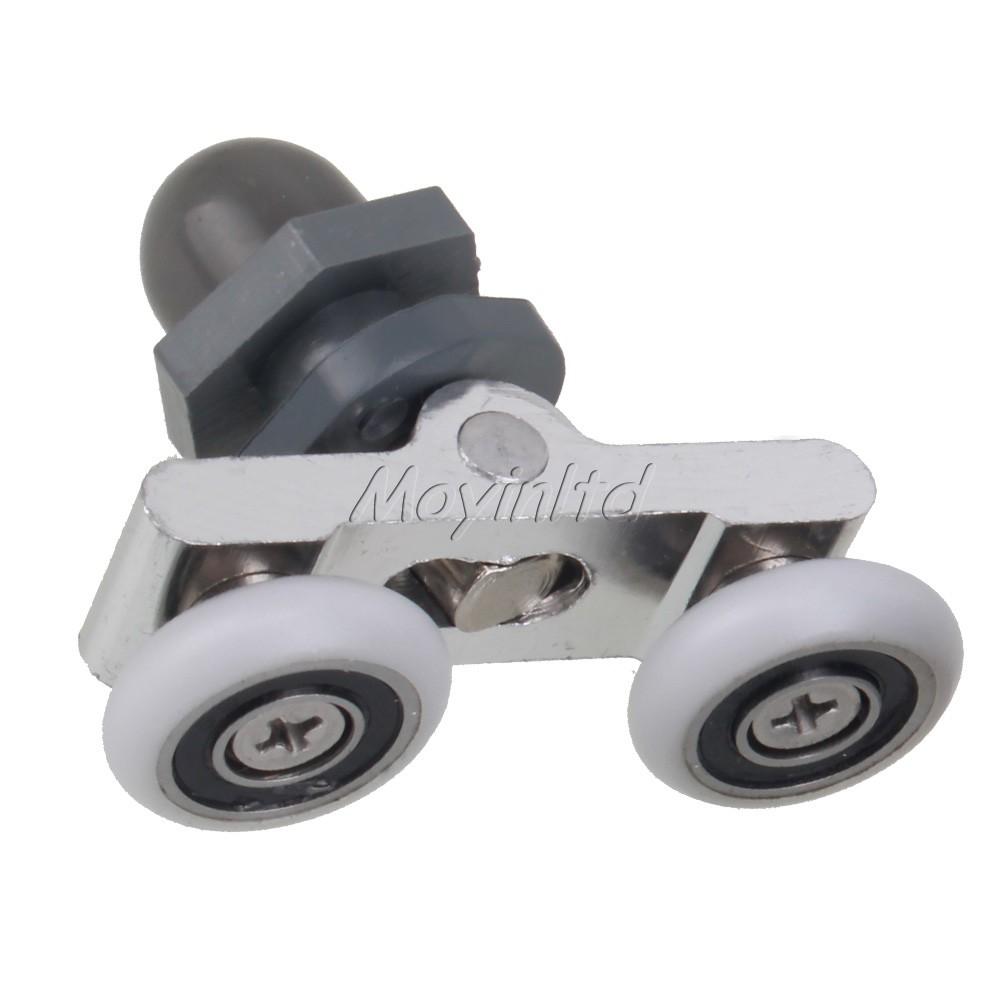 4pcs shower screen door wheel rollers runner 19mm home diy building - Duschtur Rollen