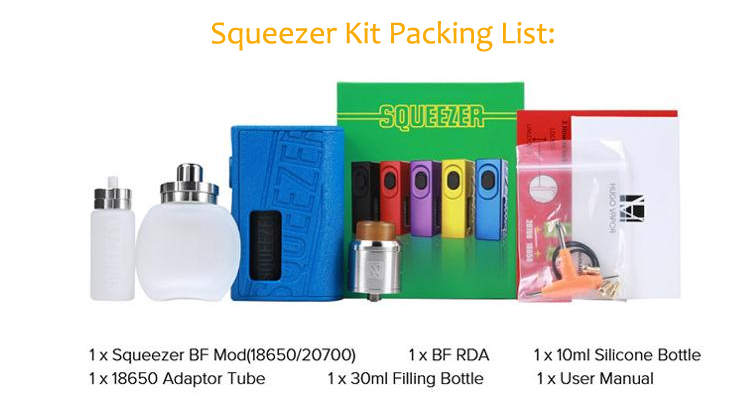 Best Nylon Fiber 3d Printed Hugo Vapor Squeezer Bf Styled Bottom Feed  Squonker Mod Kit With Rda - Buy Hugo Vapor Squeezer,Squeezer Bf,3d Squonk