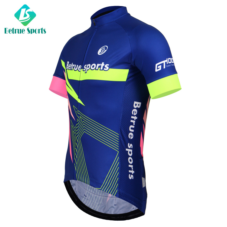 Betrue Sports Custom Coolmax Bright Bike Clothes Cycling Jersey ... 791a88d7d