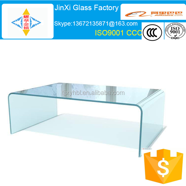 Curved Glass Desk/glass dining table with China suppliers