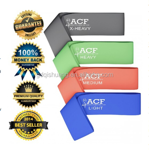 Resistance Bands pack of 5 stretch bands with 5 different levels of resistance