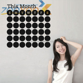 week chalk wall sticker chalkboard wall calendar sticker adhesive