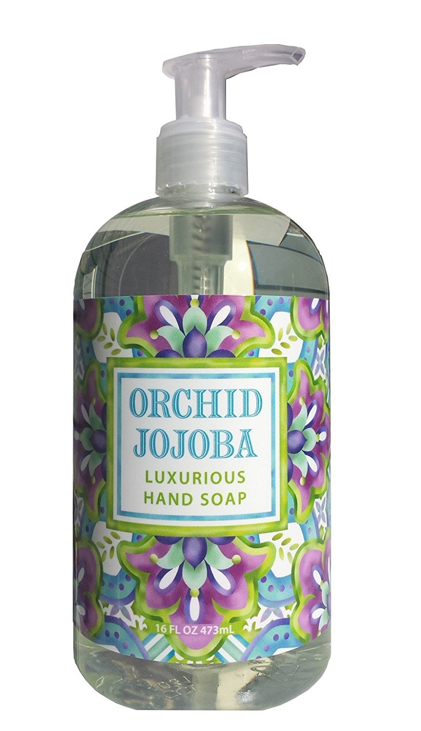 Greenwich Bay Wild Orchid Jojoba Shea Butter Liquid Hand Soap Enriched with Cocoa Butter, Vitamin E and Jojoba Oil 16 oz