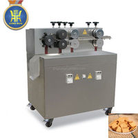Screw shell bulges extruded fried pellet chips making machine
