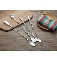 Wholesale Bar Tools Stainless Steel Cocktail Stirring Spoon/Mixing Spoon with Spiral