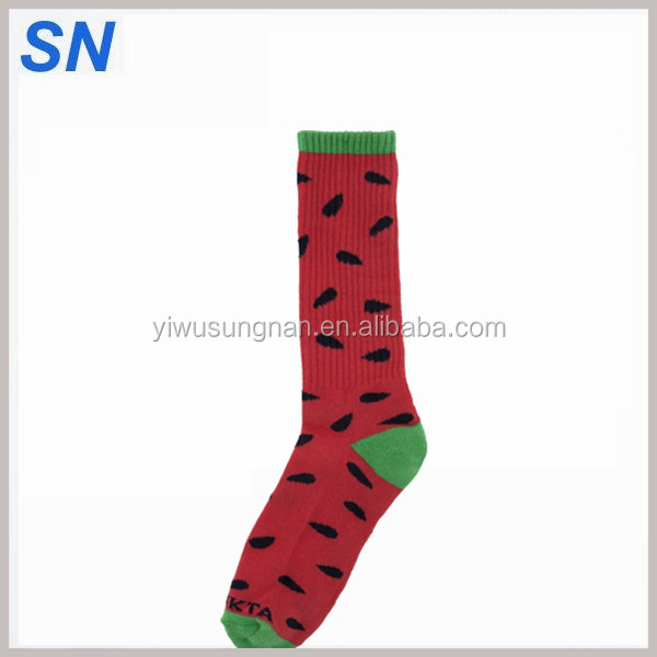 wholesale stock custom solid color cotton Jacquard men women crew socks