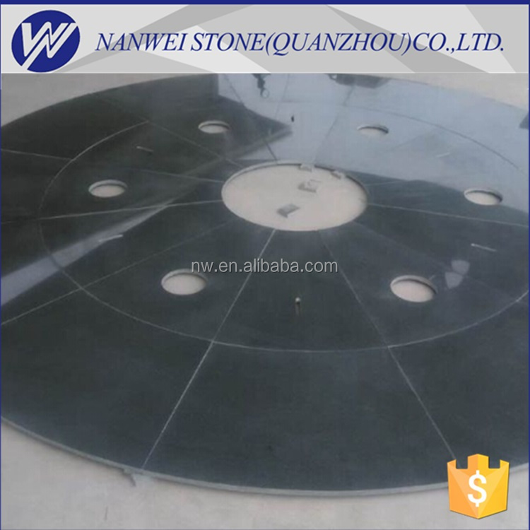 china stone Foutain poland project use G654# black seasome granite and split and flamed finished on sale