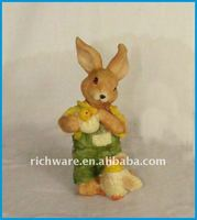 Polyresin Rabbit Home Decoration Accessories