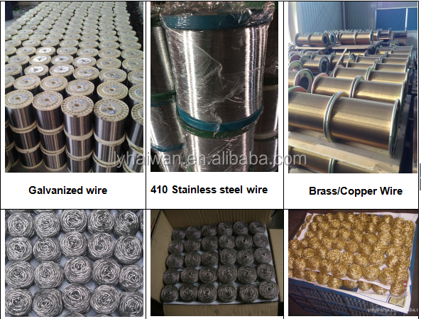 Factory price stainless steel wire rope for kitchen scourer making