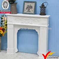 beautiful white shabby chic decorative wood fireplaces