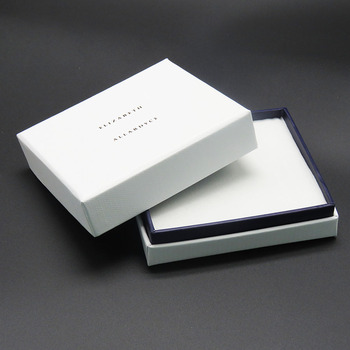 paper packaging gold logo matte white jewelry box